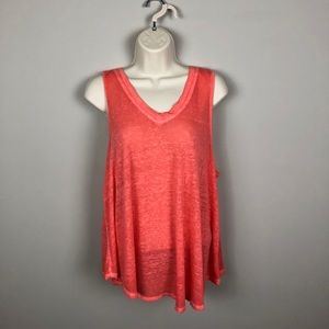 Free People We the Free Coral Tank Top Thin Fabric